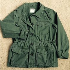 Old Navy Military Jacket Military style jacket with inner drawstring and patch pockets Old Navy Jackets & Coats Utility Jackets