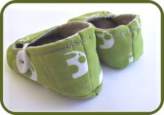 cute; BusterBooKids shoes made with Umbrella Prints Elephants quilter's cotton
