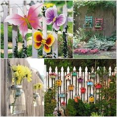 Backyard Garden Fence With Rope Light Also Border Brick And Greenhouse Besides Wooden Stacking Planter  Hanging Plant Bracket  Greenwall Vertical Garden  Exterior Hanging Lantern  Deck Light     Ideas to Decorate the Garden at Low Cost with Unused Stuff