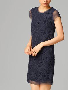 GUIPURE LACE DRESS #MassimoDutti