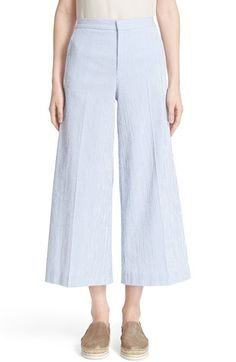 RED VALENTINO Stretch Cotton Seersucker Pants. #redvalentino #cloth #