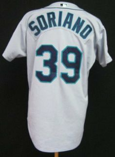 d1d5b9f6fce 2001 Seattle Mariners Rafael Soriano  39 Game Issued Road Jersey 25th Ann  Patch - Game Used MLB Jerseys by Sports Memorabilia.  212.91.