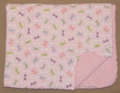 Carters White Velour Pink Sherpa Circle Butterfly Baby Blanket Purple Blue Green #Carters