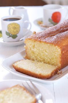 Recipe and step-by-step photos for making a delicious Lemon-Syrup Loaf Cake.