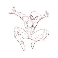 3 Ways to Draw Spiderman - Spiderman Sketches, Spiderman Drawing, Drawing Superheroes, Marvel Drawings, How To Draw Spiderman, Spiderman Poses, Spiderman Face, Fantasy Character, Character Drawing