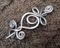 Celtic Shawl Pin / Hair Pin  Loops and by nicholasandfelice, $ 20.00