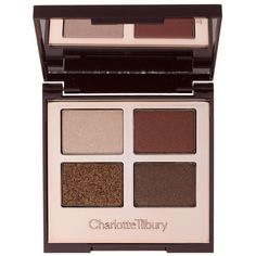Charlotte Tilbury Luxury Eyeshadow Palette ($58) ❤ liked on Polyvore featuring beauty products, makeup, eye makeup, eyeshadow and palette eyeshadow