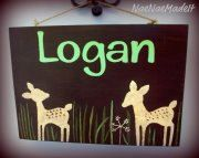 Custom deer sign made to match Willow Organic