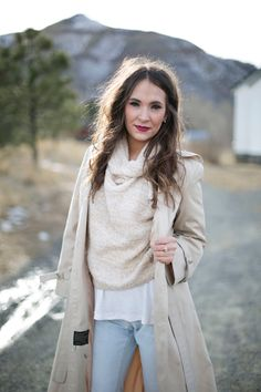 The Collaboration Blog: Closet Staples: Camel Trench Coat Sweaters and Trench coats Boyfriend Jeans Winter Fashion Spring Fashion