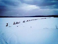 @brad_aj: Journey of #Nishiyuu departs Lac Simon. Now 93 Walkers strong! Photo: Jamie Moses #peacewalk @IdleNoMore4 #respect