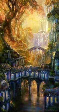 An Elven city, or another planet or parallel world?