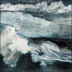 I Have Heard The Mermaids Singing | Lia Melia / powdered pigments and solvents baked onto aluminium or glass