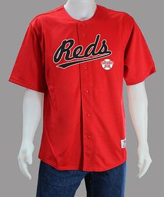Take a look at this Red Cincinnati Reds Jersey - Men by Stitches Athletic Gear on #zulily today!