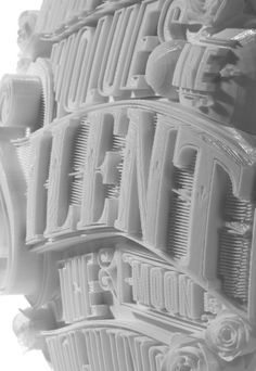 3D-Printed Type Sculptures by Ben Johnston & Mark Simmons
