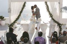 Wedding ceremony at Dana Villas Santorini