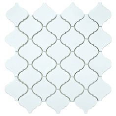 @Overstock.com - SomerTile 12.5x12.5-inch Morocco Matte White Porcelain Mosaic Tiles (Set of 10) - Add a unique touch to any indoor design project or outdoor landscaping scheme with these 12.5' x 12.5' Morocco white mosaic porcelain tiles from SomerTile. Each of the 10 tiles in the set feature a distinctive lantern shape for elegance.  http://www.overstock.com/Home-Garden/SomerTile-12.5x12.5-inch-Morocco-Matte-White-Porcelain-Mosaic-Tiles-Set-of-10/7304795/product.html?CID=214117 $105.99