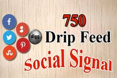 I will provide 750 manual pr9 drip feed social signals from top social sites. We accept multiple URL of your website or blogs or videos.