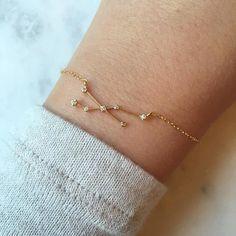 Gold Zodiac Bracelet, Zodiac Sign Bracelet Constellation Bracelet Constellation Jewelry Astrology Br