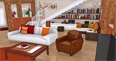 Living room in 3D www.homebyme.com