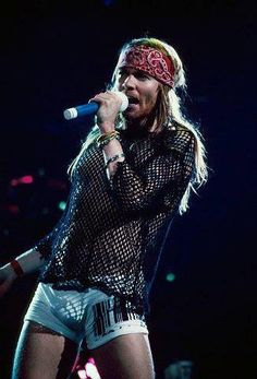 Axl Rose of Guns N' Roses, early '90s