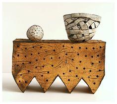 Sculpture by Hungarian-born ceramic artist Judit Varga. via iiiinspired