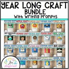Year Long Craft Bundle With Writing Prompts/Pages - Primary Playground