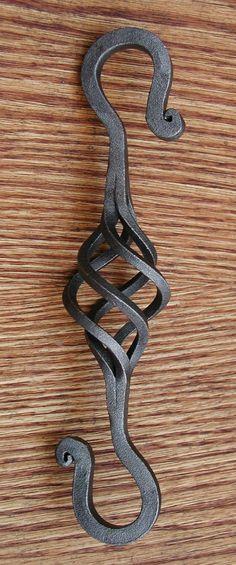 Wrought Iron Basket SHook.made by Blacksmith by WorthingtonForge, $9.90