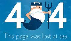 404 Error Page: Lost at Sea