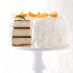 Chocolate Layered Angel Food Cake