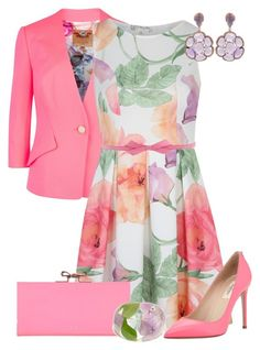 """""""Afternoon Tea"""" by maggie478 ❤ liked on Polyvore featuring Ted Baker, Voulez Vous, Valentino and Lilly Pulitzer"""