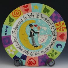 Wedding Plate  To Have and To Hold Wedding Plate  by romyandclare, $100.00