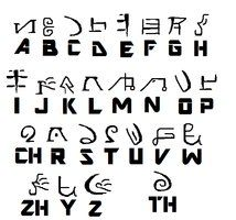 Agori Alphabet by Tahuzilla Alphabet Code, Alphabet Symbols, Alphabet Writing, Ancient Alphabets, Ancient Symbols, Ciphers And Codes, Different Alphabets, Symbols And Meanings, Chinese Symbols