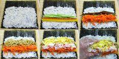 모르면 손해!!예쁘고 이색적인 김밥 12가지 종류 Cocina Light, Appetisers, Korean Food, Avocado Toast, Sushi, Cooking Recipes, Breakfast, Ethnic Recipes, Desserts