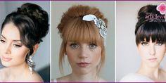 Свадебные прически с челкой на длинные, короткие и средние волосы - примеры с фото