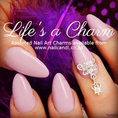 Life's A Charm! Nail Art charms available on our website www.nailcandi.co.za  The ONLY reusable nail art available!  #3DNailArt #NailArtCharms