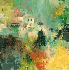 Town from a Dream II,  Fine Art GICLEE PRINT after an original painting by Milena Gawlik
