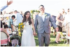Bride and Groom Ceremony Exit Just Married Glotter Toss | Taber Ranch Wedding - Capay Wedding Photographer - Ricky&Anjelica - Chico California Wedding Photography and Videography by Chico Photographer Videographer Couple TréCreative