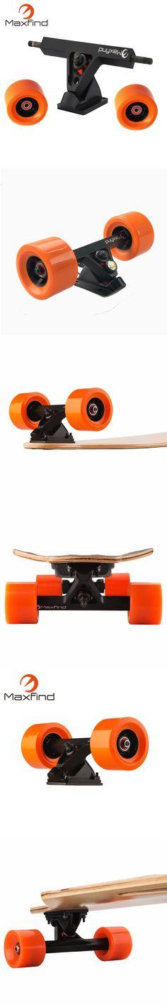 Electric Longboard skateboard Conversion Kit Rear Truck With 2 PU Wheels Riser Pad Bearing Hardware Accessory Installing Tool