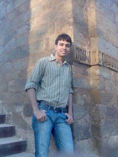 In delhi at qutub minar