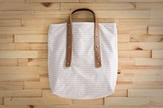 Love this simple tote from Fabric & Handle.