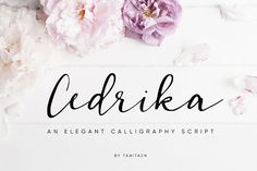 The Cedrika is an elegant calligraphy script. It's perfect for adding an artistic feel to your logos, branding, wedding designs,. Script Font Style, Best Script Fonts, Cursive Fonts, Handwritten Fonts, All Fonts, Romantic Fonts, Wedding Fonts, Brush Font, Modern Fonts