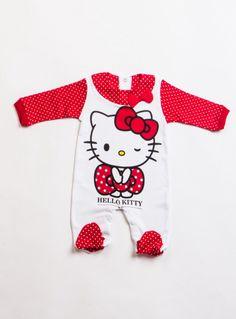 Hello Kitty HK5639 Lisanslı fiyonklu bebek tulum