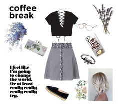 """""""Coffeeholic"""" by musicajla ❤ liked on Polyvore featuring Miss Selfridge, Chanel, Casetify, love, casualoutfit and coffeebreak"""