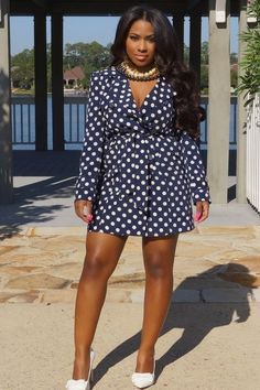 Curvy Fashionista Black Polka Dot Dress Dresses Polkadot Minis
