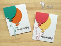 Your Next Stamp:  Birthday Balloon Die and YNS 2015 Birthday stamp set