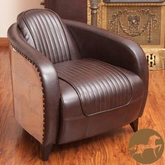 design brown chair | Christopher Knight Home Pamela Channeled Brown Leather and Metal Club ...