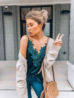 33f74a3fbbb32 Emerald Velvet Floral Appliqué Cami – OLIVIA HUDSON CLOTHING BOUTIQUE