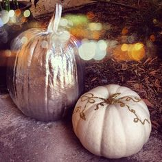Glam pumpkins via rebecca june