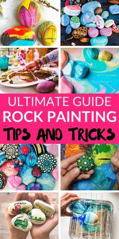 Learn how to paint rocks with easy awesome tips and tricks Breaking down and walking you through the steps of rock painting paintedrocks rockpainting # Stone Art Painting, Diy Painting, Painting Tricks, Marble Painting, Painting Techniques, Rock Painting Supplies, Rock Painting Designs, Painted Rocks Craft, Hand Painted Rocks
