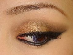 You can Create this Beautiful Look with Gold & Virgo Eyeshadows & Charcoal Liner